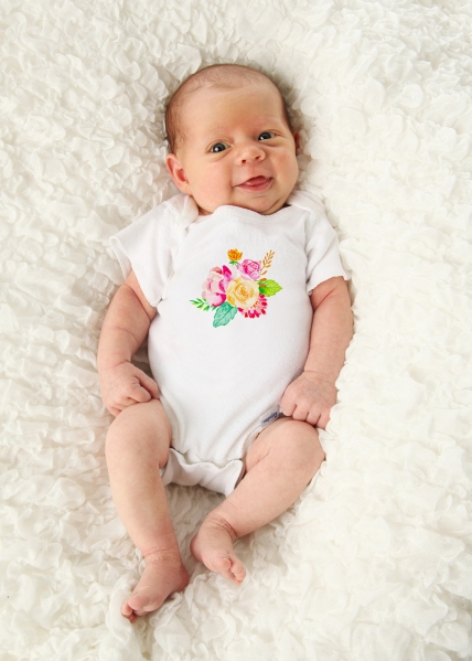 Floral baby bodysuit